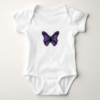 Cross stitch purple butterfly shirts
