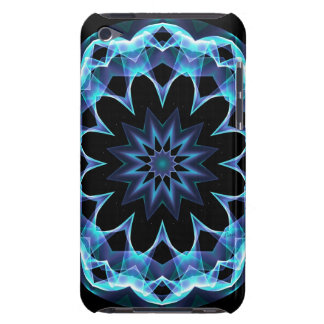 Crystal Star, Abstract Glowing Blue Mandala iPod Case-Mate Case