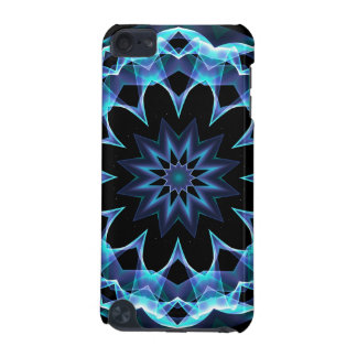 Crystal Star, Abstract Glowing Blue Mandala iPod Touch 5G Case