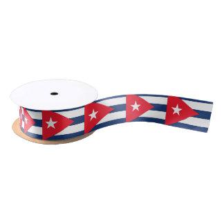 Cuba Flag Red Blue White Satin Ribbon