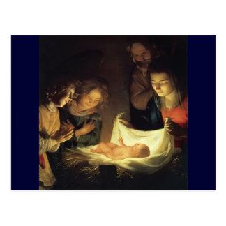 Culte Jésus de bergers d'enfant Carte Postale