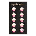 Cupcake Baker Bakery Customer Loyalty Punch Business Card