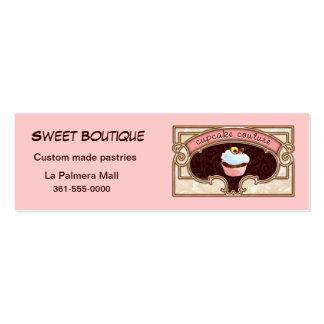 Cupcake Couture Pink Business Card Logo