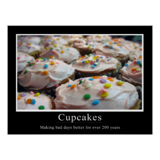 Cupcake Demotivational Style Poster