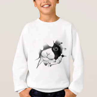 Curious Black and White Kitty Cat T Shirt