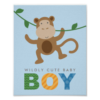 Custom Art Print for Baby | Monkey for Boy