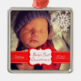 Custom Baby's First Christmas Ornament