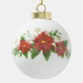 Custom Christmas Ceramic Ball Ornament. Ceramic Ball Ornament