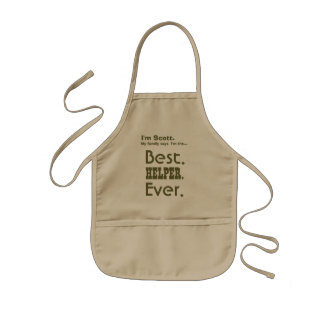 Custom Name Best HELPER Ever V16 Kids Apron