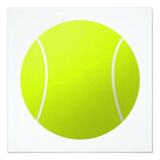 "Custom Personalized Tennis Ball Gift 5.25"" Square Invitation Card"