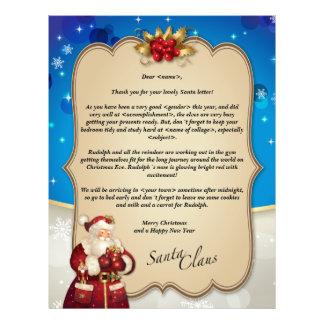 Custom vintage Christmas blue letter from Santa… Custom Letterhead