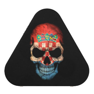 Customizable Croatian Flag Skull Blueooth Speaker