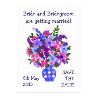 Customizable Save the Date Card, Bouquet Large Business Card