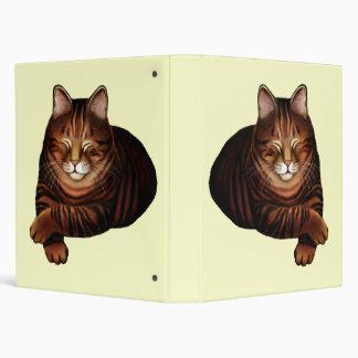 Customizable Sleeping Brown Tabby Cat Avery Binder