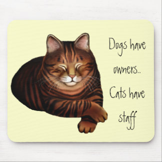 Customizable Sleeping Brown Tabby Cat Mousepad