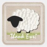 Customizable Unisex Little Lamb Thank You Stickers