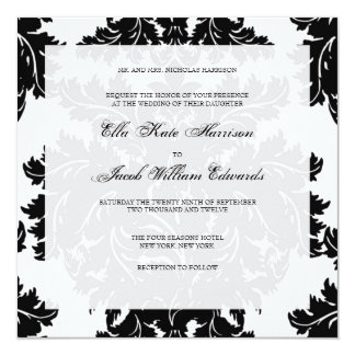 Customizable Wedding Invitation :: DAMASK
