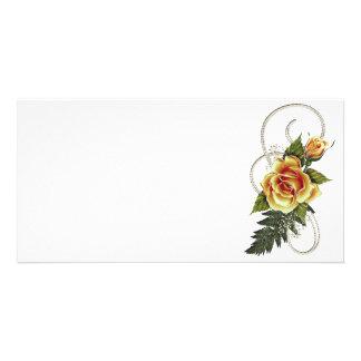 CUSTOMIZABLE Yellow Roses Customized Photo Card