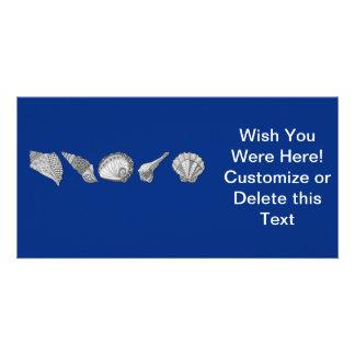 Customize This Original Seashell Art Photo Card Template