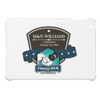 Customize Your Name Fitness Gym Logo iPad Mini Cover