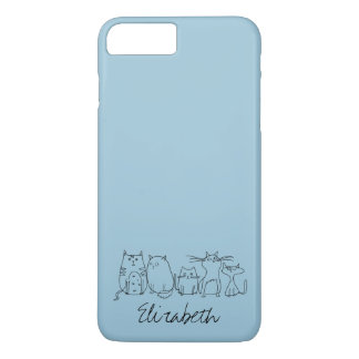 Cute and Funny Crazy Cat Lady iPhone 7 Plus Case