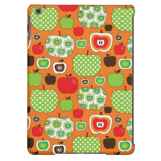 Cute apple illustration pattern cover for iPad air