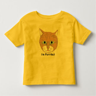 Cute brown cat and 'I'm Purrrfect' Tees