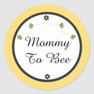 """Cute Bumble Bees """"Mommy To Bee"""" Stickers"""