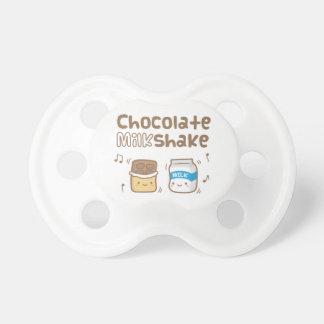 Cute Chocolate Milkshake Doodle For Babies Baby Pacifiers