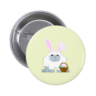 Cute Easter Yeti 2 Inch Round Button