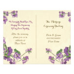 cute floral wedding program custom flyer