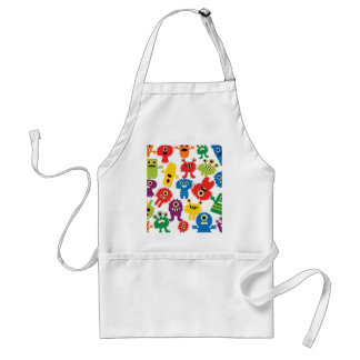 Cute Funny Colorful Monsters Pattern Standard Apron