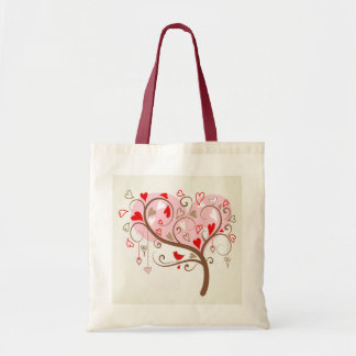 Cute Happy Valentines Day Text Design Budget Tote Bag