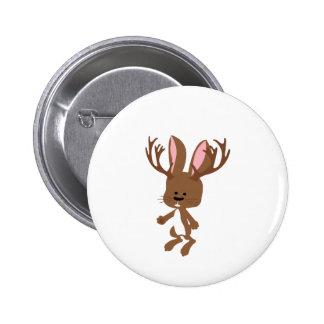 Cute Jackalope 2 Inch Round Button