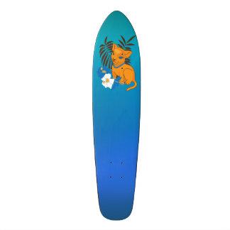 Cute Leo baby cartoon illustration Skate Board Decks