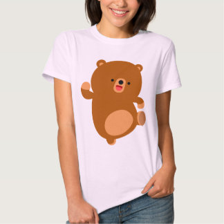 Cute Perky Cartoon Bear Women T-Shirt
