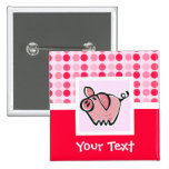 Cute Pig 2 Inch Square Button