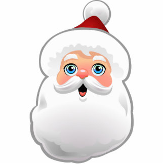 Cute Santa Claus Photo Sculpture Ornament