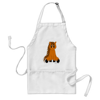 Cute Scruffy Pony Apron