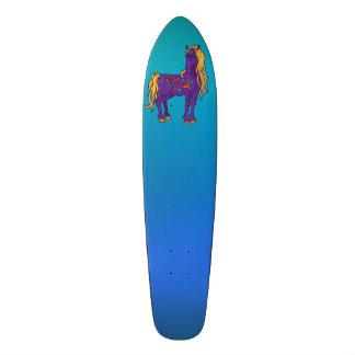 Cute Violet Magic Horse Fantasy Illustration Custom Skateboard