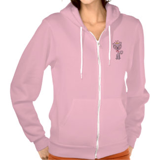 Cute Whimsical Princess  Kitty Cat Hooded Pullover