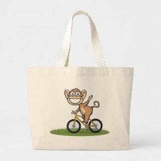 Cycliste de singe sac en toile jumbo