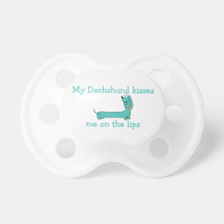 Dachshund Kisses Pacifier