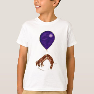 dachshund with balloon t-shirts