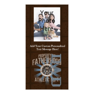 Dad University, Blue/Brown Photo Card