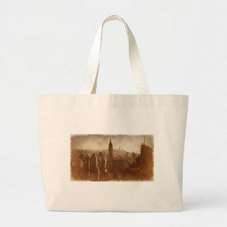 Damaged Photo Effect New York Jumbo Tote Bag
