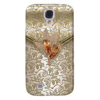 Damask Caramel Cream Beige Gold Amber