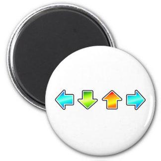 Dance Dance Revolution 2 Inch Round Magnet