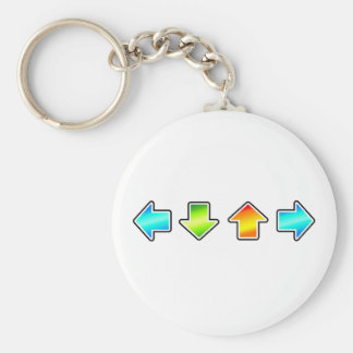 Dance Dance Revolution Basic Round Button Keychain