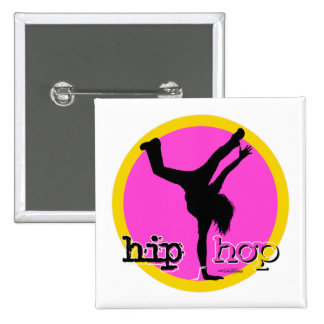 Dance - Hip Hop Girl magnet 2 Inch Square Button